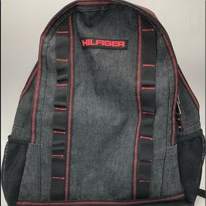 Tommy Hilfiger Dark Grey Backpack With Red Stitch